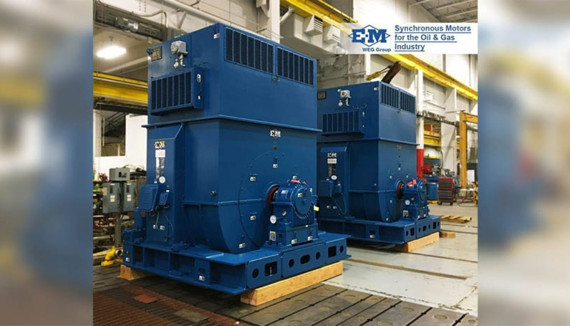 WEG provides large synchronous motors for a refinery in USA
