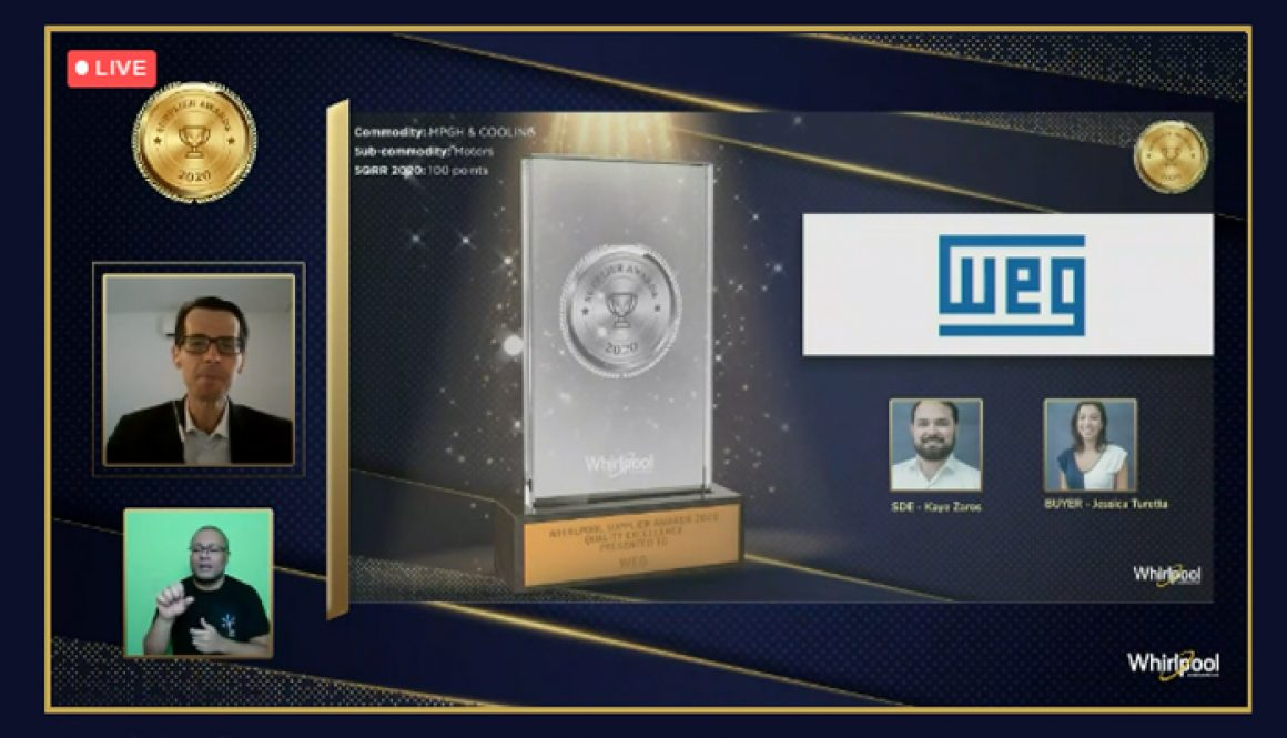 "WEG receives Whirlpool ""Supplier of the Year"" Award"